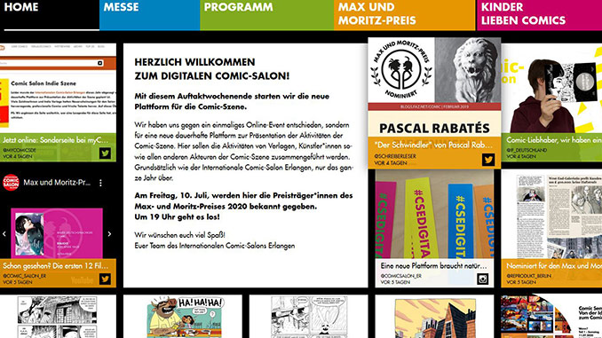 Digitaler Comic Salon Erlangen